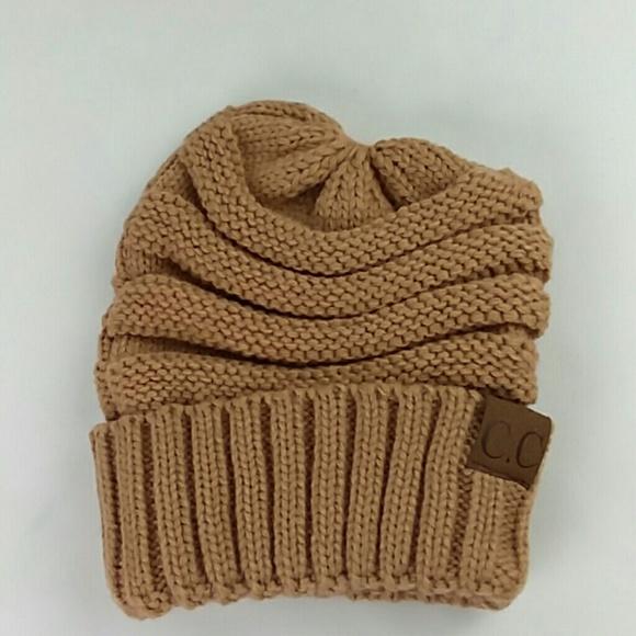 39bd5d2a260 CC Beanie Accessories - CC Beanie Tan Knit Hat